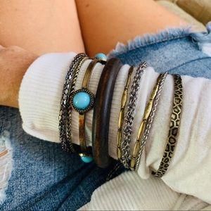 Bangle bracelets 9 piece set assorted colors